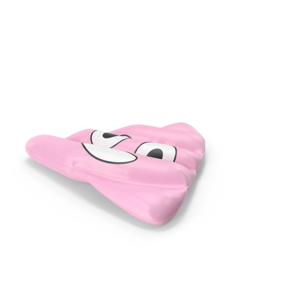 Raft: Giant Pink Poop Emoji Pool Float PNG & PSD Images