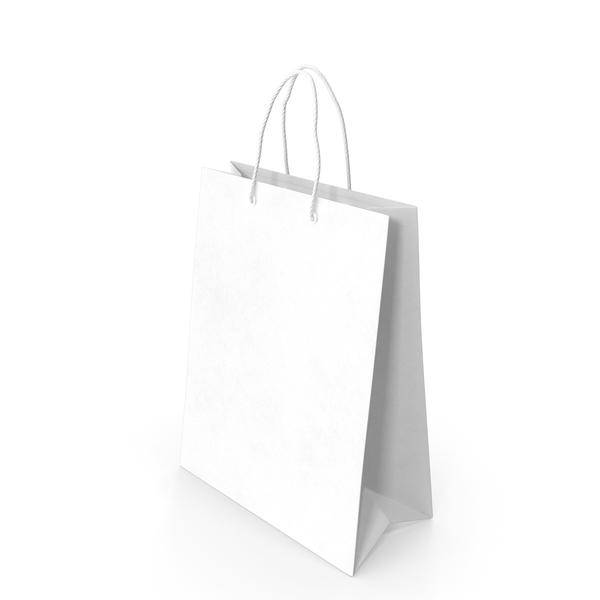 Gift Bag Big White PNG & PSD Images