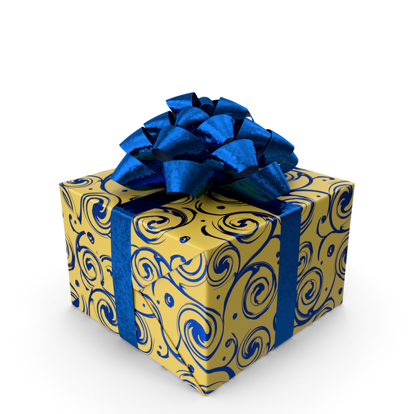 Gift Blue and Yellow PNG & PSD Images