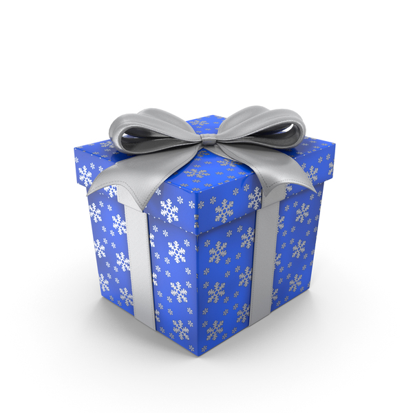 Gift Box Cube Blue PNG & PSD Images