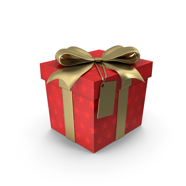 Gift Box Cube Label PNG & PSD Images