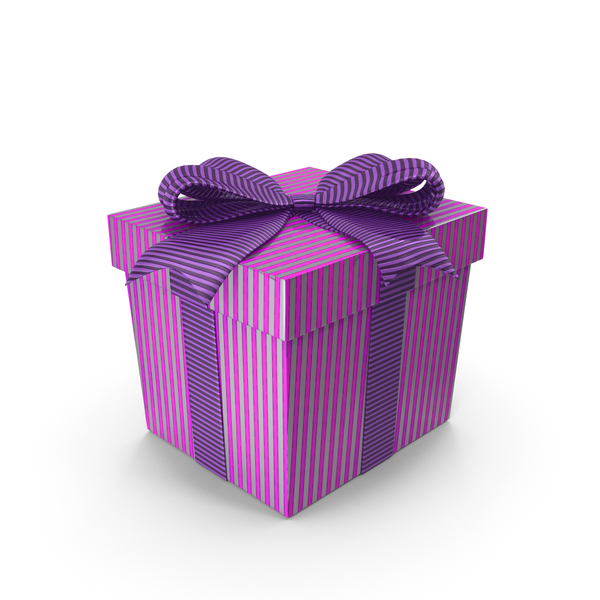 Gift Box Cube Purple PNG & PSD Images