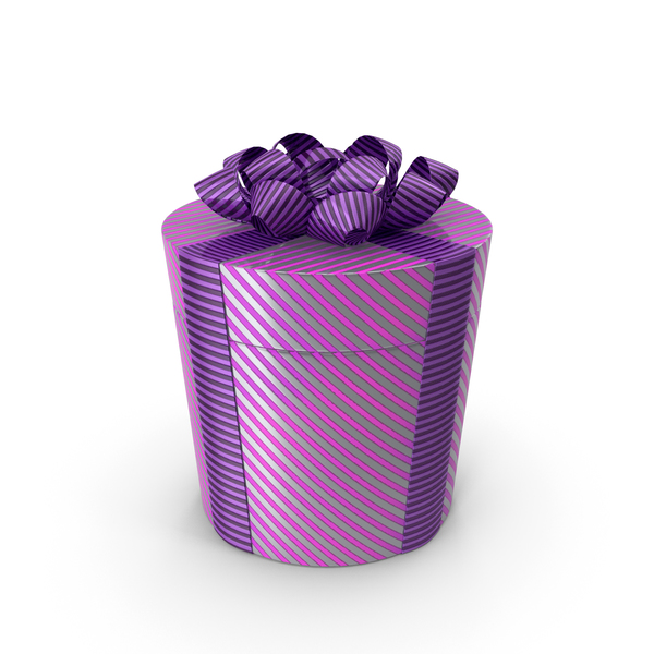 Gift Box Cylinder Purple PNG & PSD Images