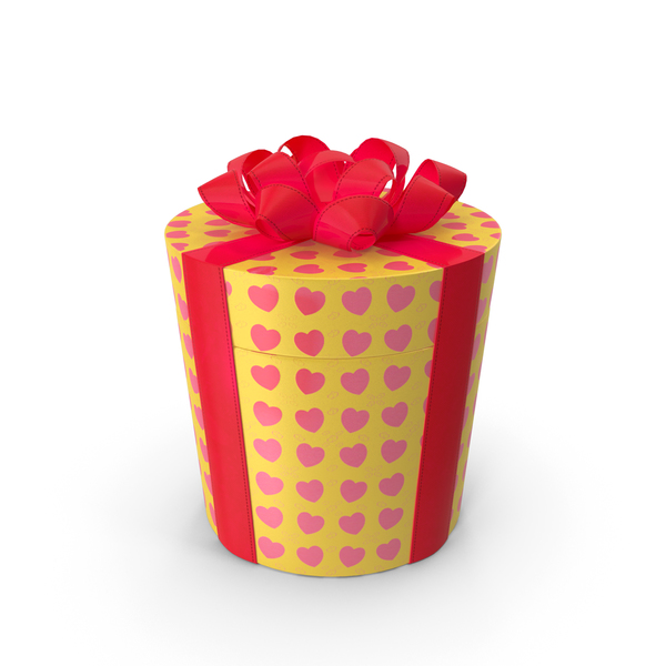 Gift Box Cylinder Yellow PNG & PSD Images