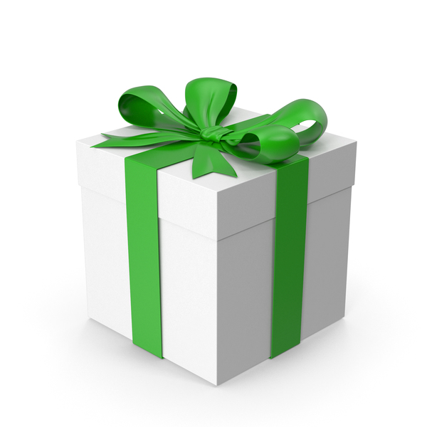 Gift Box Green PNG & PSD Images