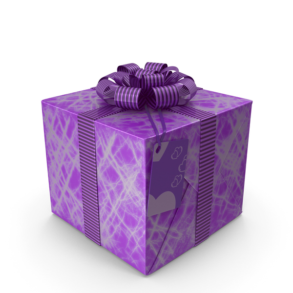 Gift Box Label Purple PNG & PSD Images