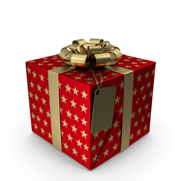 Gift Box Label Red PNG & PSD Images