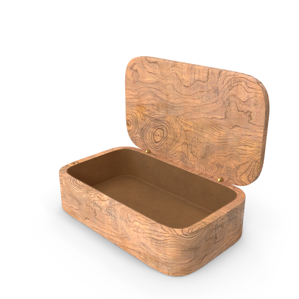Wooden: Gift Box Opened PNG & PSD Images