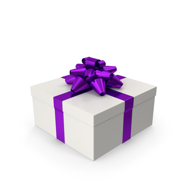 Gift Box Purple PNG & PSD Images