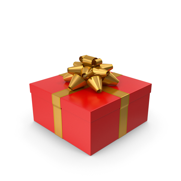 Gift Box Red Gold PNG & PSD Images