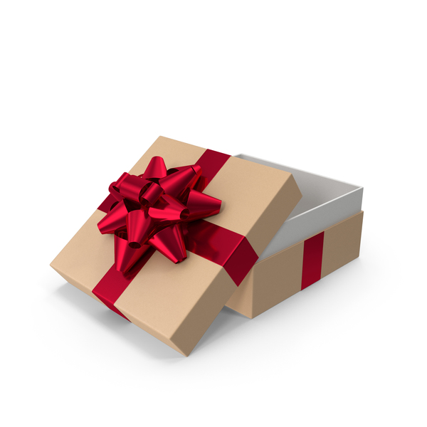 Gift Box With Bow Opened PNG & PSD Images