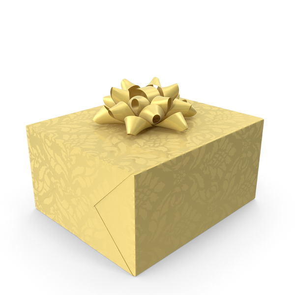 Box: Gift Gold PNG & PSD Images