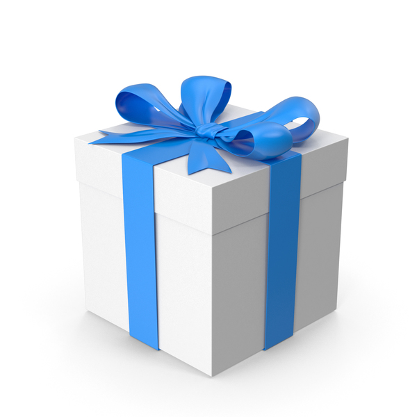 Ox: Gift Box Blue PNG & PSD Images