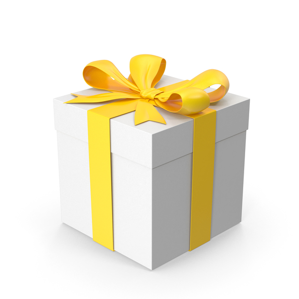 Giftbox Yellow PNG & PSD Images