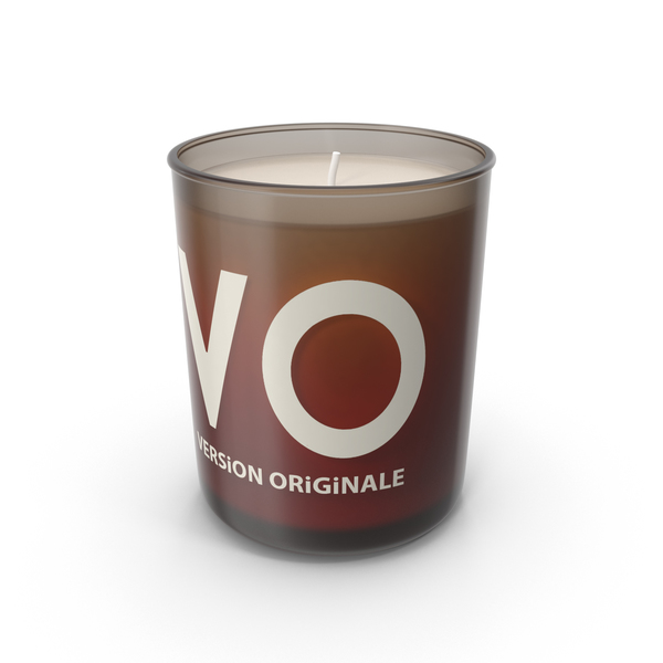 Ginger's VO Candle PNG & PSD Images