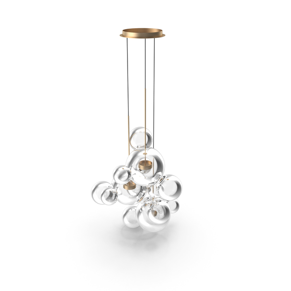 Giopato & Coombes Chandelier BTC14C-PE1-BZBC PNG & PSD Images