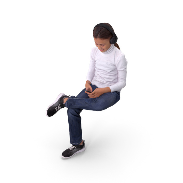 Girl Sitting PNG & PSD Images