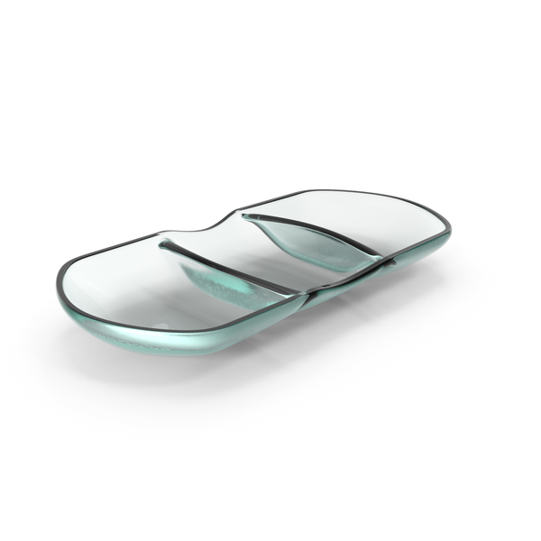 Glass 3 compartment bowl PNG & PSD Images