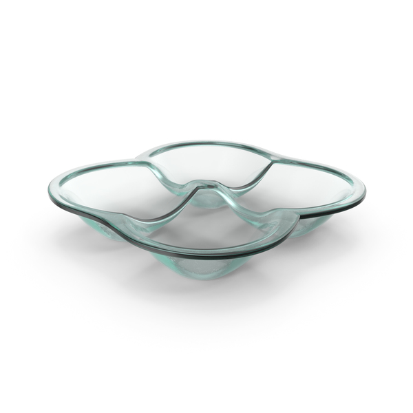 Glass 4 Compartment Round Bowl PNG & PSD Images