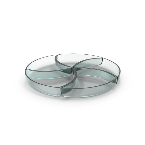 Glass 5 Compartment Circle Bowl PNG & PSD Images