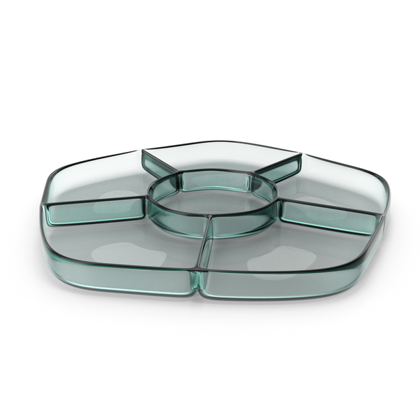 Glass 6 Compartment Bowl PNG & PSD Images