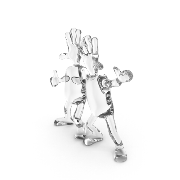 Statue: Glass Abstract Figurine Friends PNG & PSD Images