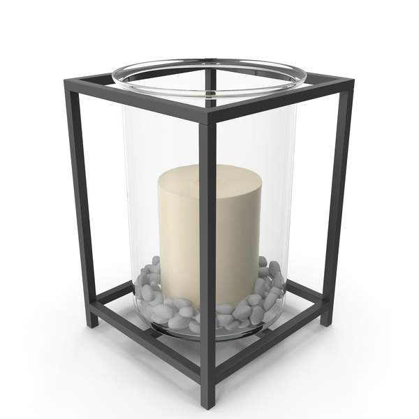 Glass and Iron Candle Holder PNG & PSD Images