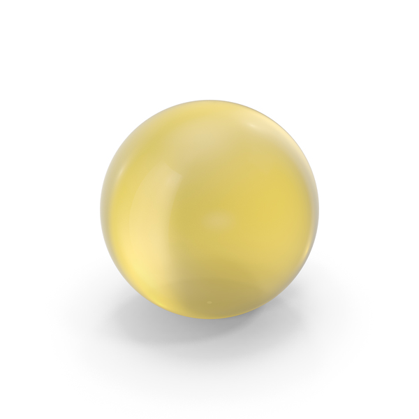 Sphere: Glass Ball Yellow PNG & PSD Images