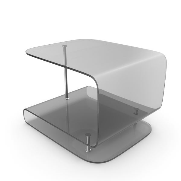 Glass Black Side Table PNG & PSD Images