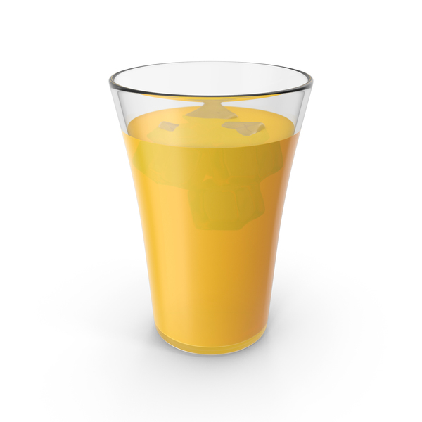 Glass Cup With Orange Juice PNG & PSD Images