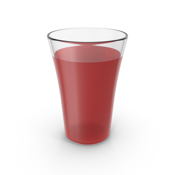 Glass Cup With Red Juice PNG & PSD Images