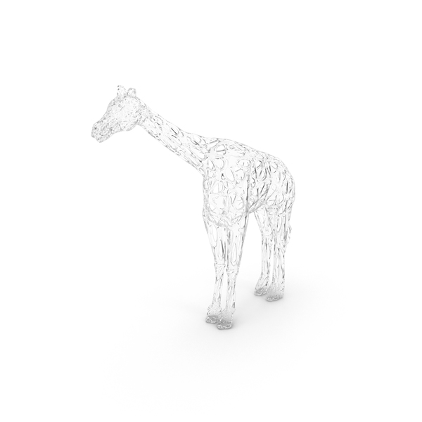 Glass Giraffe Voronoi Style PNG & PSD Images