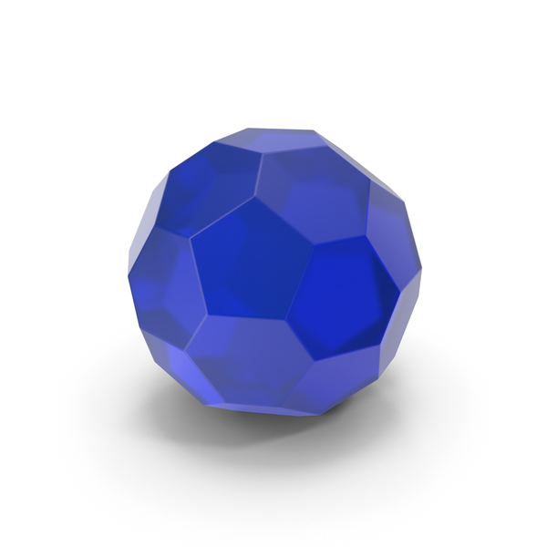 Glassware: Glass Hexagon Ball Blue PNG & PSD Images