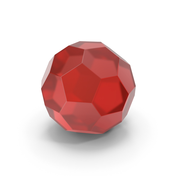 Glassware: Glass Hexagon Ball Red PNG & PSD Images