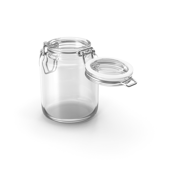 Glass Jar with Open Lid PNG & PSD Images