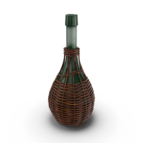 Growler: Glass Jug in Woven Basket PNG & PSD Images