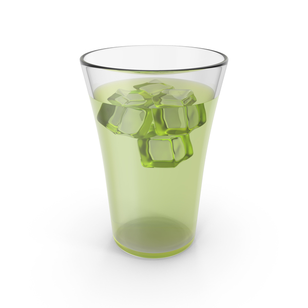 Water: Glass Lemonade With Ice PNG & PSD Images