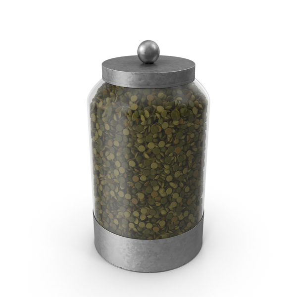 Food Container: Glass Lentil Canister PNG & PSD Images