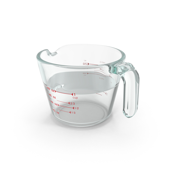 Glass Measuring Cup PNG & PSD Images
