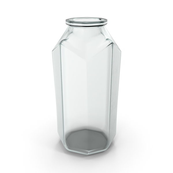 Glass Octagon Jar Open PNG & PSD Images