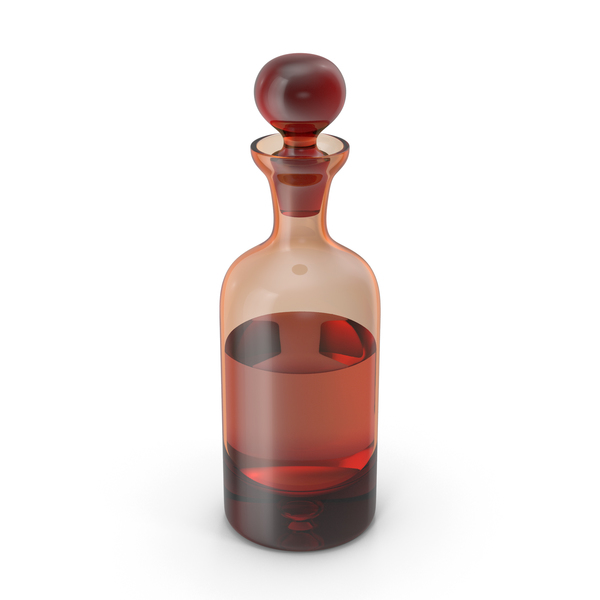 Glass Orange Decanter with Whiskey PNG & PSD Images