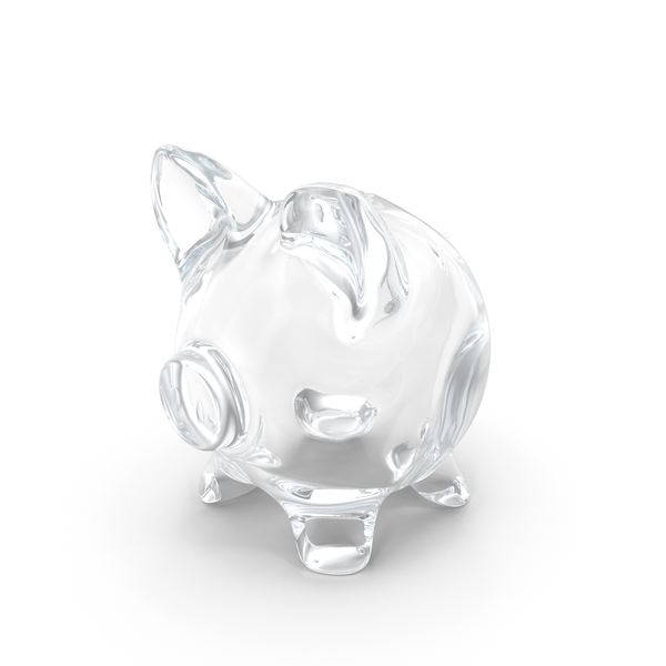 Glass Piggy Bank Object