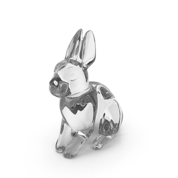 Glass Rabbit Figurine PNG & PSD Images