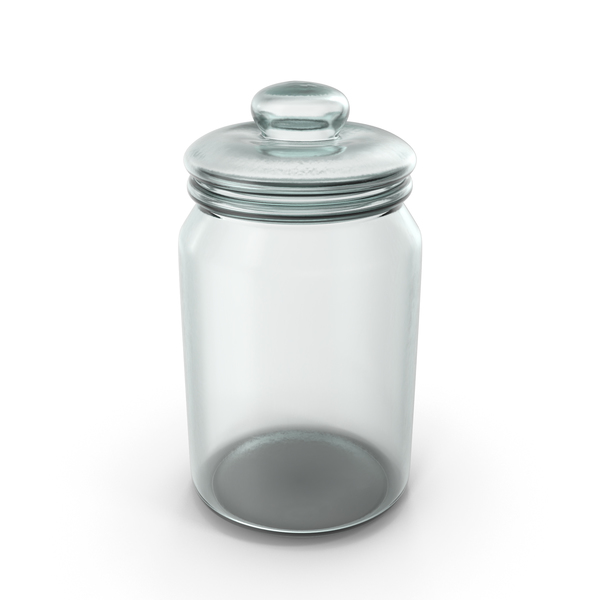 Glass Round Jar Closed PNG & PSD Images