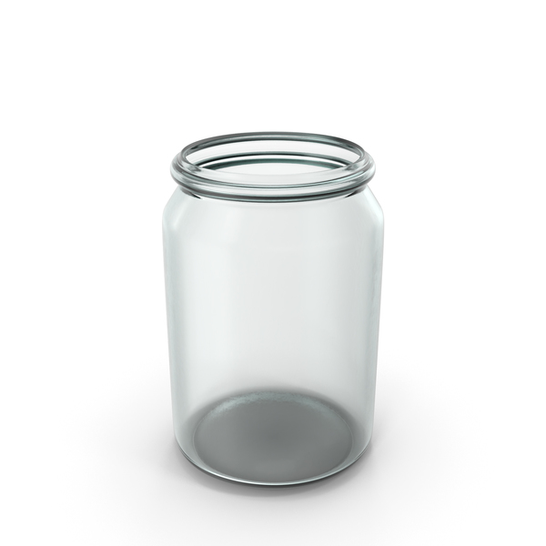 Glass Round Jar Open PNG & PSD Images