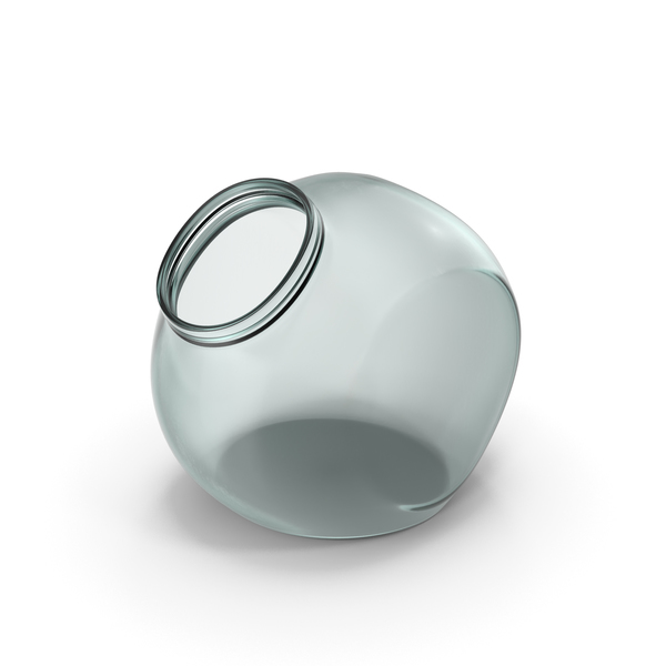 Glass Spherical Jar Open PNG & PSD Images