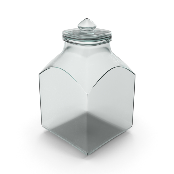 Glass Square Jar Closed PNG & PSD Images