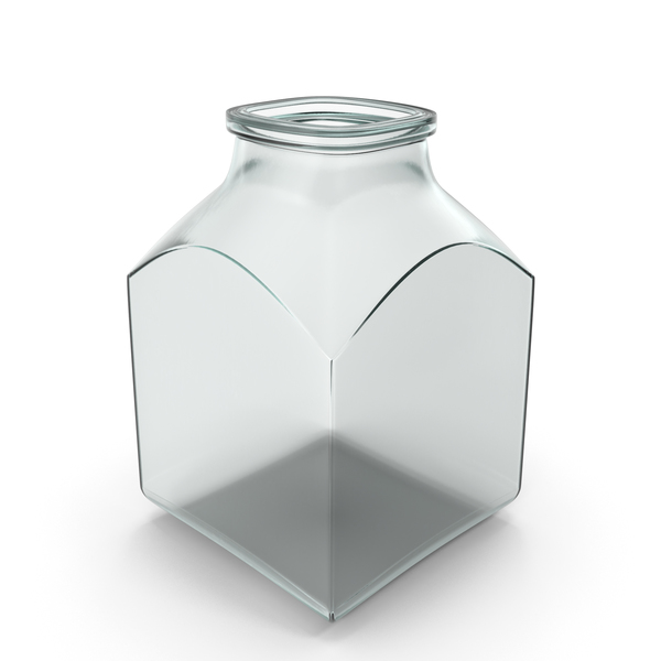 Glass Square Jar Open PNG & PSD Images