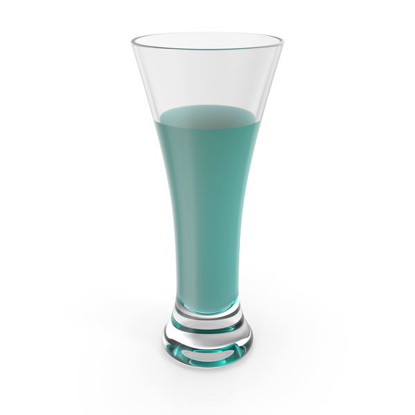 Glass with Blue Water PNG & PSD Images