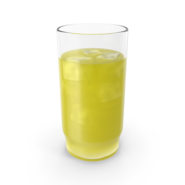 Glass With Cold Yellow Juice PNG & PSD Images
